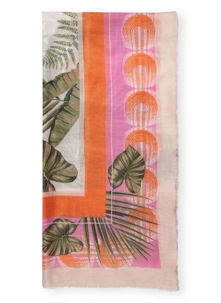 HERZEN'S ANGELEGENHEIT Cashmere-Tuch, Farbe: ORANGE/ PINK/ CREME (Bild 1)