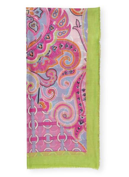 herzensangelegenheit Cashmere-Tuch, Farbe: HELLGRÜN/ HELLBLAU/ PINK (Bild 1)