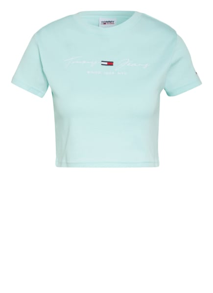 TOMMY JEANS Cropped-Shirt, Farbe: MINT (Bild 1)