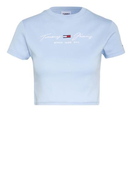 TOMMY JEANS Cropped-Shirt, Farbe: HELLBLAU (Bild 1)