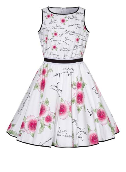 MONNALISA Kleid, Farbe: WEISS/ SCHWARZ/ FUCHSIA (Bild 1)