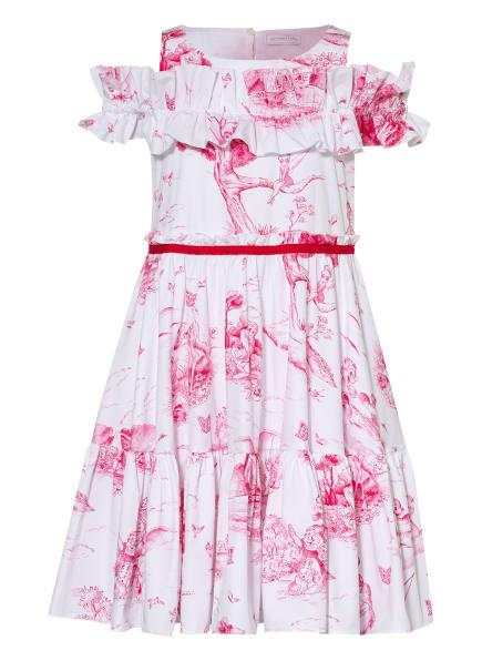 MONNALISA Kleid, Farbe: WEISS/ FUCHSIA (Bild 1)