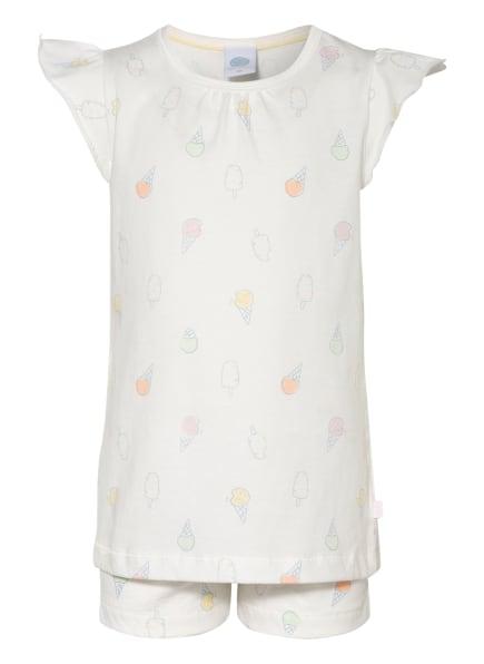 Sanetta Shorty-Schlafanzug, Farbe: WEISS/ HELLROSA/ HELLGELB (Bild 1)