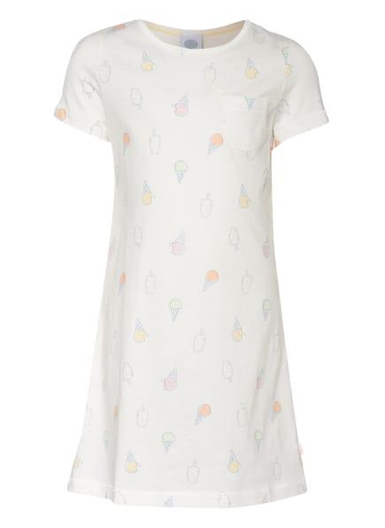 Sanetta Nachthemd, Farbe: WEISS/ BLAU/ HELLORANGE (Bild 1)