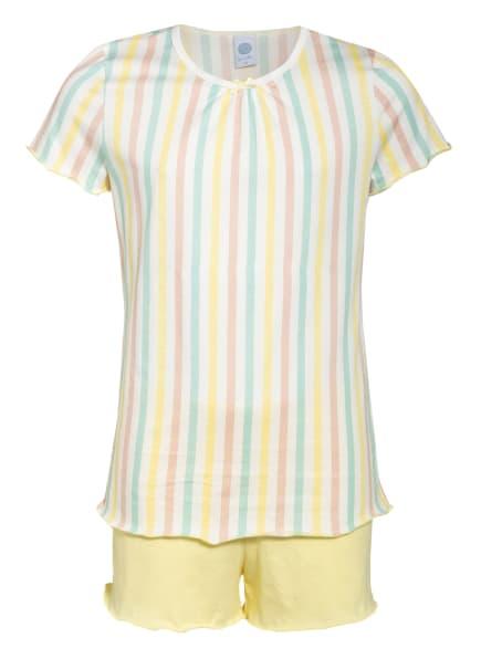 Sanetta Shorty-Schlafanzug, Farbe: GELB/ MINT/ ROSA (Bild 1)
