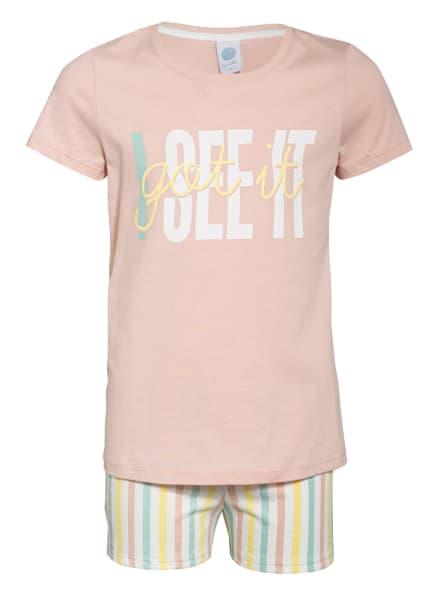 Sanetta Shorty-Schlafanzug, Farbe: ROSA/ GELB/ MINT (Bild 1)