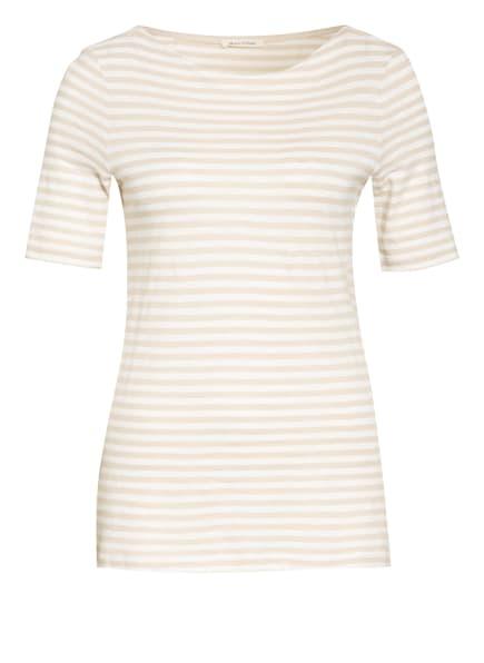 Marc O'Polo T-Shirt, Farbe: CREME/ HELLBRAUN (Bild 1)