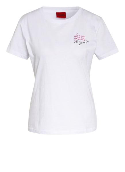 HUGO T-Shirt THE REGULAR TEE, Farbe: WEISS (Bild 1)