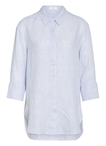 OPUS Oversized-Hemdbluse FYTHON aus Leinen, Farbe: WEISS/ BLAU (Bild 1)