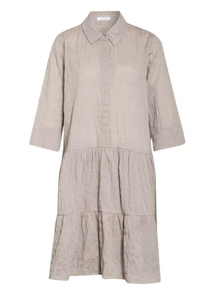 OPUS Kleid WRIANA mit 3/4-Arm , Farbe: TAUPE/ WEISS (Bild 1)