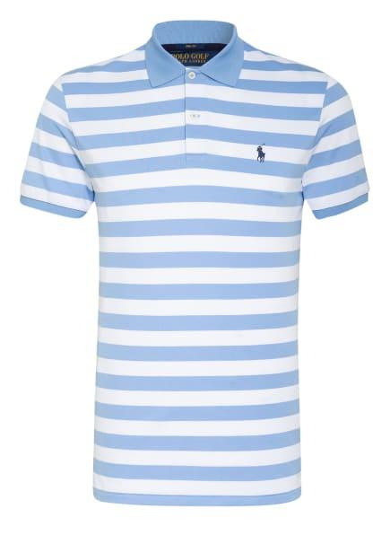 POLO GOLF RALPH LAUREN Funktions-Poloshirt Custom Slim Fit , Farbe: HELLBLAU/ WEISS (Bild 1)