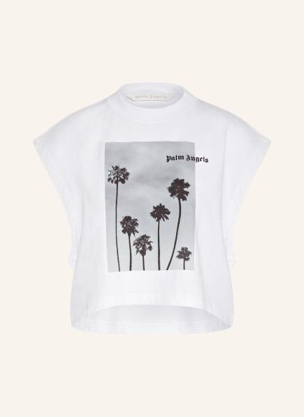 Palm Angels Cropped-Shirt, Farbe: WEISS/ GRAU (Bild 1)