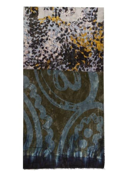 LUISA CERANO Tuch, Farbe: DUNKELGRÜN/ BLAU/ HELLGRAU (Bild 1)