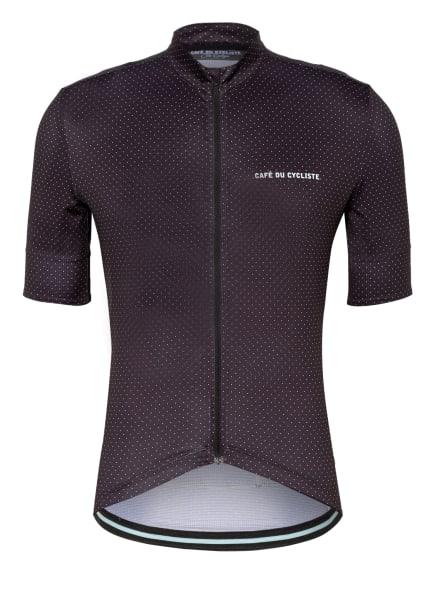 CAFÉ DU CYCLISTE Fahrradtrikot FLEURETTE mit UV-Schutz 30+, Farbe: SCHWARZ/ WEISS (Bild 1)