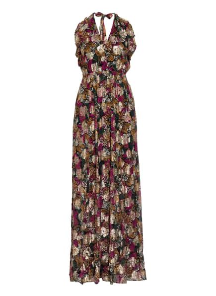 ba&sh Kleid LEO mit Glitzergarn, Farbe: SCHWARZ/ GOLD/ FUCHSIA (Bild 1)
