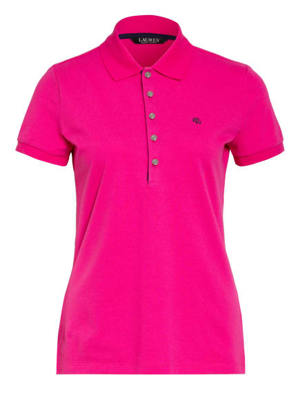 LAUREN RALPH LAUREN Piqué-Poloshirt ATHLEISURE, Farbe: PINK (Bild 1)