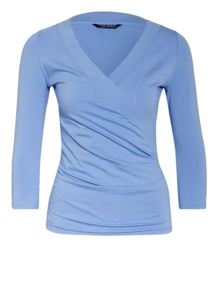 LAUREN RALPH LAUREN Shirt mit 3/4-Arm in Wickeloptik, Farbe: HELLBLAU (Bild 1)
