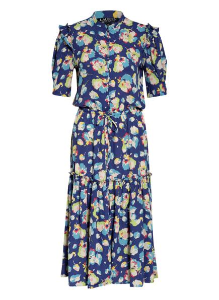 LAUREN RALPH LAUREN Kleid POLY, Farbe: BLAU/ HELLGRÜN/ GELB (Bild 1)