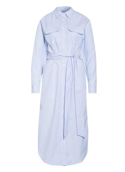 LAUREN RALPH LAUREN Hemdblusenkleid, Farbe: WEISS/ HELLBLAU (Bild 1)