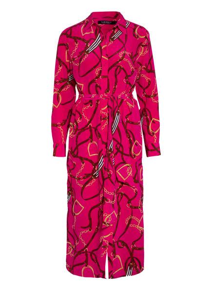 LAUREN RALPH LAUREN Hemdblusenkleid aus Seide, Farbe: PINK/ BRAUN/ GOLD (Bild 1)