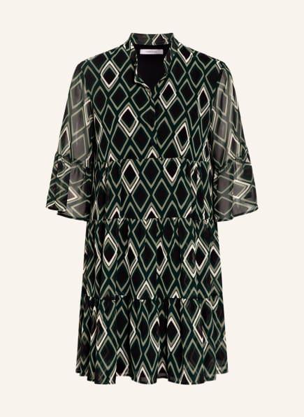 MARELLA Kleid STAZZO mit Rüschenbesatz, Farbe: SCHWARZ/ GRÜN/ CREME (Bild 1)