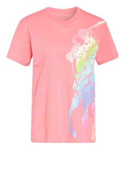 POLO RALPH LAUREN T-Shirt, Farbe: ROSA/ NEONGRÜN/ BLAU (Bild 1)