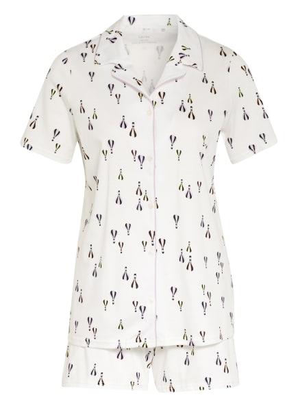 CALIDA Shorty-Schlafanzug BALLOON NIGHTS, Farbe: CREME/ HELLLILA/ WEISS (Bild 1)
