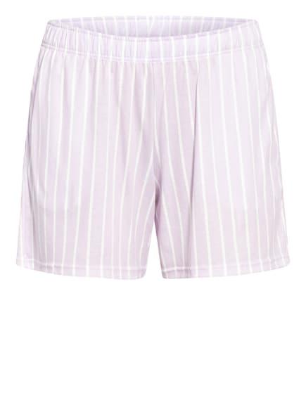 CALIDA Lounge-Shorts, Farbe: HELLLILA/ WEISS (Bild 1)