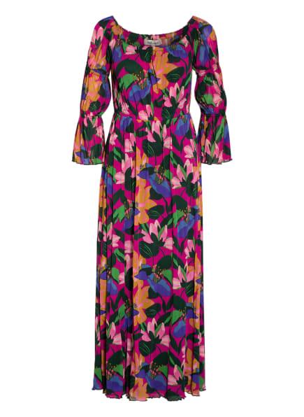 DIANE VON FURSTENBERG Off-Shoulder-Kleid CHERYL mit 3/4-Arm , Farbe: PINK/ DUNKELGRÜN/ LILA (Bild 1)