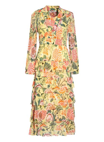 DIANE VON FURSTENBERG Kleid ABENI , Farbe: GELB/ GRÜN/ ORANGE (Bild 1)