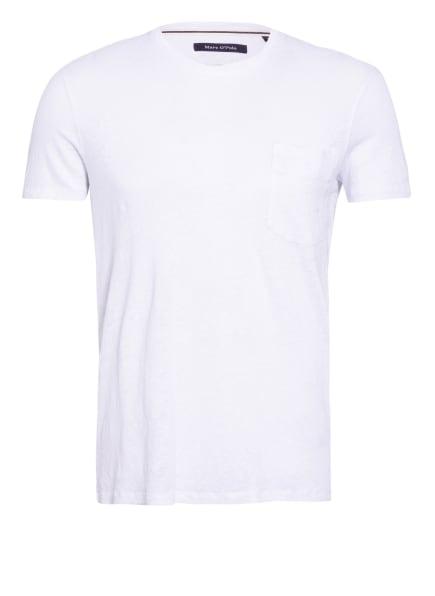 Marc O'Polo T-Shirt aus Leinen , Farbe: WEISS (Bild 1)
