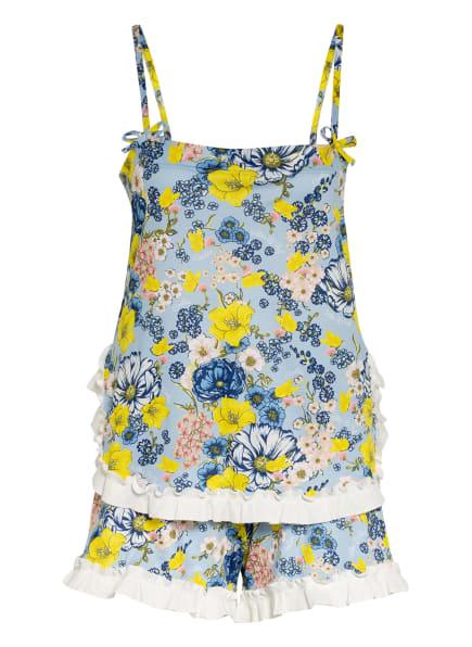 CALIDA Shorty-Schlafanzug , Farbe: HELLBLAU/ GELB/ WEISS (Bild 1)