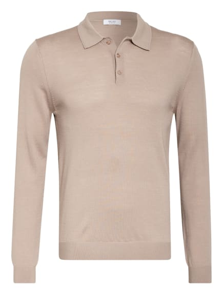 REISS Strick-Poloshirt TRAFFORD, Farbe: TAUPE (Bild 1)