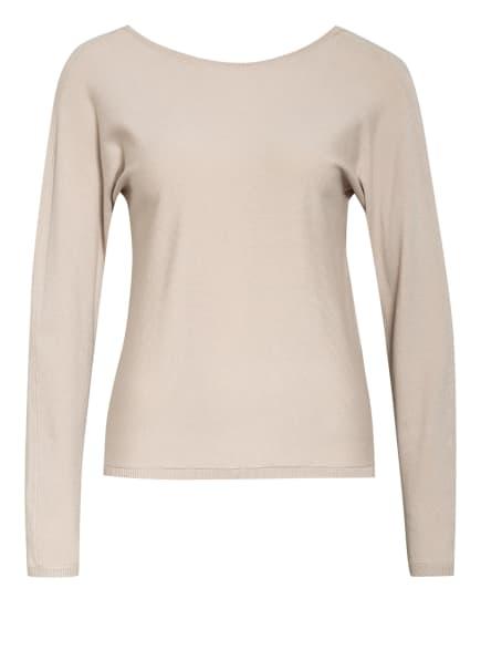 ONLY Pullover mit Spitzenbesatz, Farbe: CREME (Bild 1)