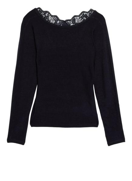ONLY Pullover mit Spitzenbesatz, Farbe: DUNKELBLAU (Bild 1)