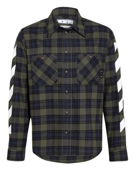 Off-White Flanellhemd Comfort Fit, Farbe: DUNKELBLAU/ SCHWARZ/ GRÜN (Bild 1)
