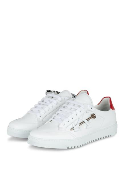 Off-White Sneaker 2.0, Farbe: WEISS/ ROT (Bild 1)