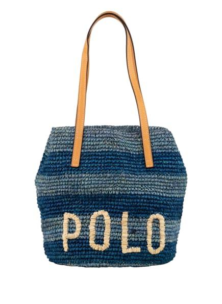 POLO RALPH LAUREN Shopper, Farbe: BLAU/ HELLBLAU/ CREME (Bild 1)