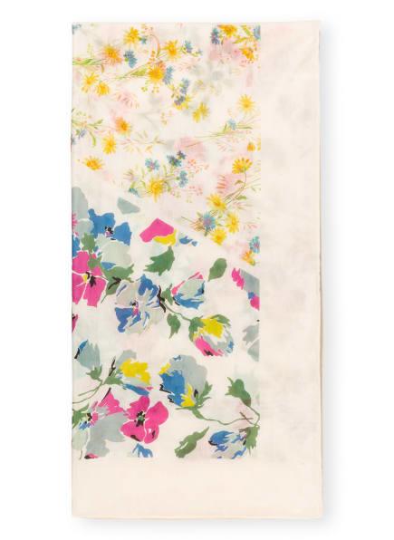 POLO RALPH LAUREN Tuch mit Seide, Farbe: CREME/ GRÜN/ HELLROT (Bild 1)