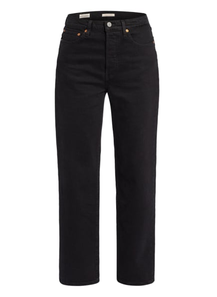 Levi's® Jeans RIBCAGE STRAIGHT ANKLE, Farbe: 12 Blacks (Bild 1)