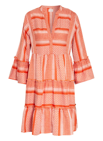 Mrs & HUGS Kleid, Farbe: WEISS/ ORANGE (Bild 1)