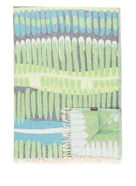PROFLAX Plaid LIMBO, Farbe: BLAU/ GRÜN (Bild 1)