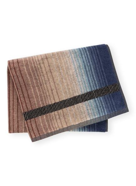 MISSONI Home Handtuch AYRTON , Farbe: BRAUN/ CAMEL/ DUNKELBLAU (Bild 1)