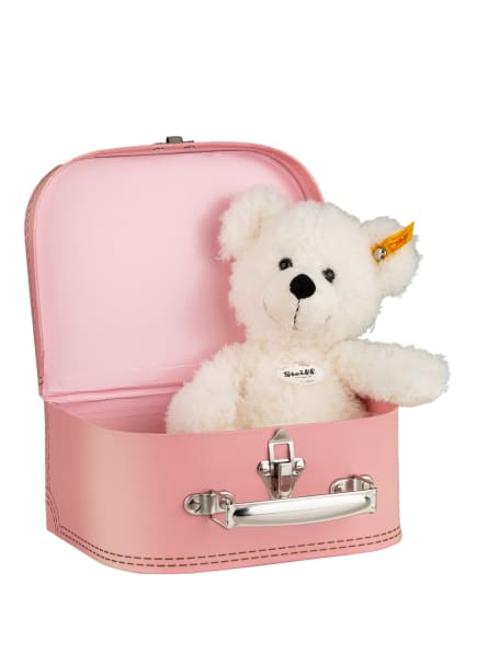 Steiff Set: Teddybär-Kuscheltier LOTTE und Spielkoffer, Farbe: WEISS (Bild 1)