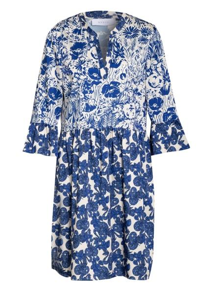 NVSCO Kleid LOUISA mit 3/4-Arm, Farbe: CREME/ BLAU (Bild 1)
