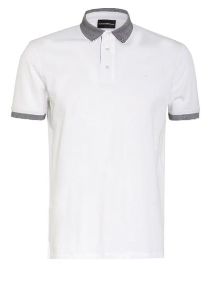 EMPORIO ARMANI Piqué-Poloshirt, Farbe: WEISS (Bild 1)