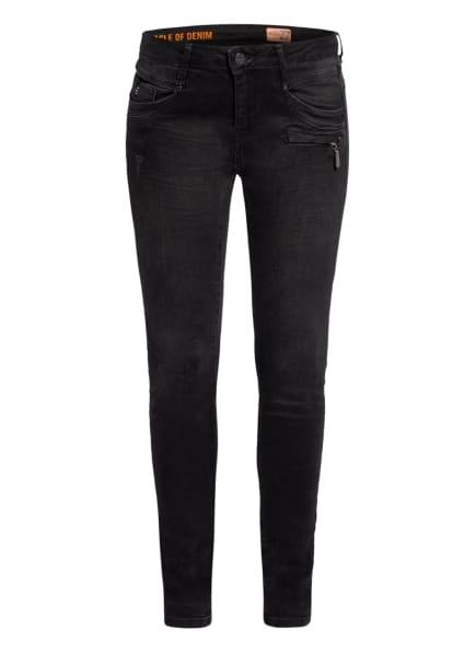 MIRACLE OF DENIM Skinny Jeans SUZY, Farbe: 364 Black Denim (Bild 1)