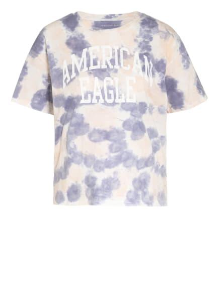 AMERICAN EAGLE T-Shirt, Farbe: LILA/ HELLORANGE (Bild 1)