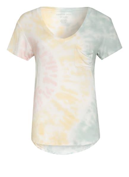 AMERICAN EAGLE T-Shirt, Farbe: WEISS/ GELB/ ROSA (Bild 1)