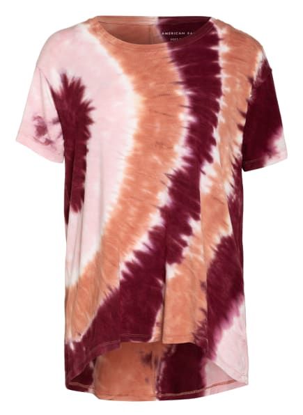 AMERICAN EAGLE T-Shirt, Farbe: DUNKELROT/ ROSÉ/ HELLORANGE (Bild 1)